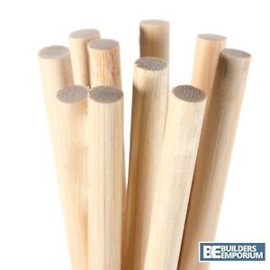 Dowel 30cm Rich Pine Wood 6,9,12,15,21,25,35 & 43mm Diameter Trade & Craft