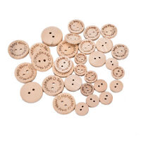 100X Handmades With Love Buttons Scrapbooking Sewings Wood Button25mm 20mm Tw