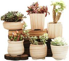 6 Pcs Home Planter Desk Ceramic Flower Pot Succulent Plant Pot Home Decoration