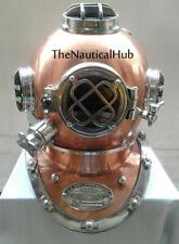 """Antique 18"""" Boston Diving Helmet US Navy Mark V Deep Sea Divers Helmet Replica"""