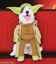 "Disney Star Wars Yoda Pet Dog Costume Size Large 20"" Chest 22"" Neck to Tail"