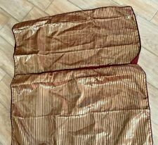 Croscill KING  2 Pillow Shams Burgundy  Gold RIBBED SBB