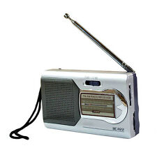 Pocket Slim Portable Mini AM/FM Radio Speaker World Receiver Telescopic antenna