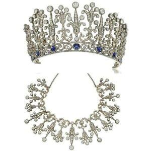 Solid 925 Sterling Silver Tiara Converts Necklace Highend Handmade Vintage Jewel