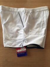 Nos Vintage 1970/80s Catalina White w/ Blue Size 38 New w/ Tags Short Shorts