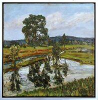 Moorlandschaft b. Beuerberg Tölz Öl 1934 Richard Pietzsch Ausstellung publiziert