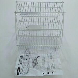 Rubbermaid Pull Down Spice Rack in Cabinet Metal Storage Organizer Holder 8020RD