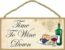 Novelty-Fun Wood Wine Sign-Plaque-Time to Wine Down