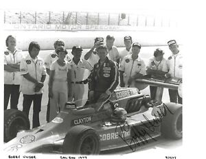 Autographed Bobby Unser USAC IndyCar Auto Racing Photograph