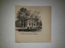 Havre De Grace Maryland Episcopal Church 1863 Hw Sketch Print Rare!