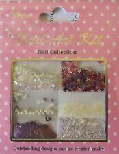 """Nail Art Kit 03"" 3D  Set  dekoration  Blumen- Perlen - Strass - Sterne ...TOP"