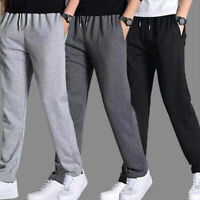 New Men Pants Trousers Gym Long Sweatpants Sports Solid Casual Size S-4XL Spring