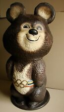 Soviet Russian advertising figurine Statue Olimpic Bear great unique Moscow 1980