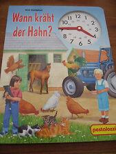 (e1110) Ancien carton-Livre pour enfants quand chant du coq? influents 2004 Mobiles Horloge