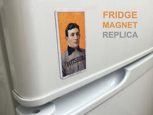 MAGNET Honus Wagner T206 Baseball card Piedmont 1909 1910 Vintage aged Replica