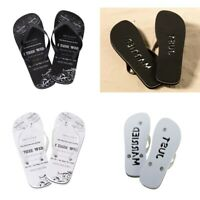Just Married Wedding Foot Thongs Flip Flops Beach Sandals Shoes Bride Groom Gift