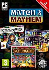 * PC NEW SEALED Games * MATCH 3 MAYHEM - PUZZLE QUEST - ALEXANDRIA - SERENGETI