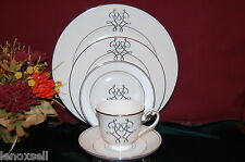 4 Lenox Scripted PLATINUM 5 piece place Settings NEW USA 1st Quality