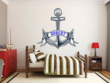 Anchor Monogram Wall Decal Boys or Girls Bedroom Decor
