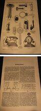 Holzstich-Graphik Original von 1898-Telephon,Anlagen versch.Modelle mit Bericht