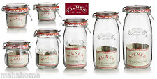 Vintage Kilner Glass Storage Jars ClipTop Round Preserving Jar in Various Size