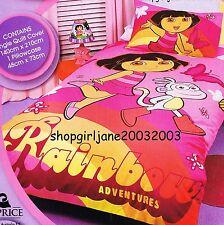 Dora the Explorer Rainbow Adventure- Single/Twin Bed Quilt Doona Duvet Cover Set