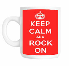 Keep Calm and Rock On MUSICA TAZZA REGALO