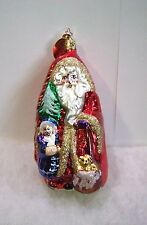 Old World Christmas Inge Glass Ornaments Santa's Love NEW