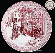 Spode Williams Sonoma Christmas Plaque St Nick courses de Noël