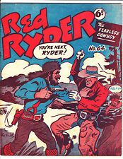 "Red Ryder No 64 1950's -Australian-""Fight At Gun Point Cover ! """