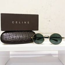 Celine Paris Logo Round Philo Lennon Sunglasses Olsen Beatles Green Gold Italy