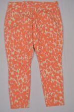 GAP Size 12 Orange Pink Yellow Splash Dot Skinny Mini Ankle Casual Pants
