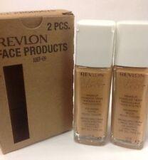 2 x Revlon Nearly Naked Liquid Makeup Foundation Broad S SPF20 #200 Warm Beige