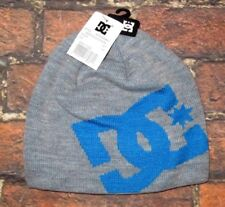 MENS DC SHOES BEANIE HAT HEATHER GRAY CAP ONE SIZE