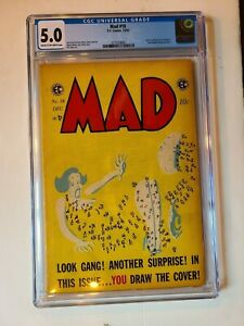 MAD COMICS # 18 EC 1954 CGC 5.0 KURTZMAN WALLY WOOD JACK DAVIS ELDER