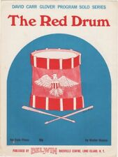The Red Drum Piano Solo, for beginners 1968 vintage sheet music