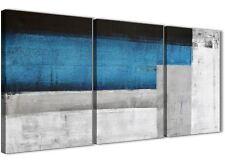 3 Pezzi Blu Grigio Accessori da cucina pittura in Tela-ASTRATTO 3423 - 126 cm