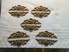 Jewelry Lot of 10 Nos Flowers Vintage Stampings Victorian Frame Tops Bottoms