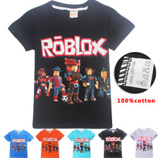 New ROBLOX Boys Girl's Short Sleeve T-Shirts 100% Cotton Tops tshirts Clothes