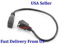 3PK Up Direction 90 Degree Angled Micro USB 5Pin Male to Female Extension Cable