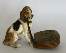 Jugendstil Wiener Bronze Hund mit Briefmarkenbox