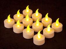 10 x CANDELE CANDELA TEALIGHT LUCI LED EFFETTO TREMOLIO A BATTERIA LUMINI LUMINO