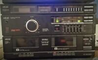 VINTAGE AKAI AC-A300WR Stereo integrated Amplifier, Cassette and Radio READ