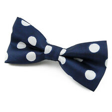 Made in France - Noeud Papillon Enfant Bleu marine à pois - Children Blue Bowtie