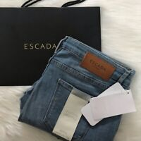 NEW wTag-Women's ESCADA Sport Skinny Medium Rise Blue Jegging Cropped Jeans