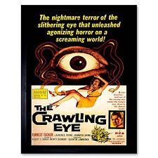 Film Crawling Eye Trollenborg Terror Monster Sci Fi Horror Usa Framed Art Print