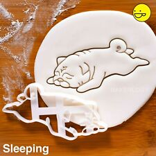 Sleepy Carlin Cookie Cutter | Pugs Chiens Friandises adopter chien sauvetage パグ ...
