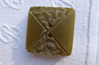 6 quadratische Zweilochknöpfe lindgrün Bakelit? 2,2 cm² Vintage 1940