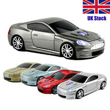 Aston Martin Car Wireless Mouse USB Optical 2.4Ghz game Computer PC Mice Gray UK