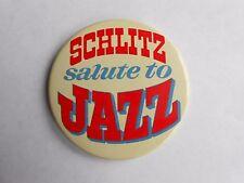 Vintage Schlitz Beer Salute to Jazz Advertising Pinback Button